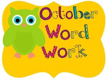 Interactive Notebook...October Word Work