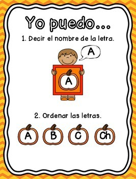 October Word Work Centers in SPANISH!