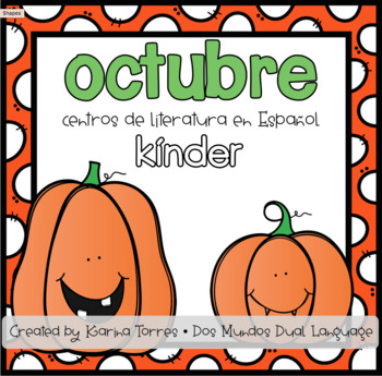 October Spanish Literacy Centers-Kinder