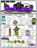 October Word Work Choice Board
