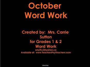 October Word Work: SMARTNotebook