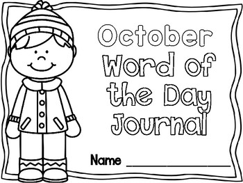 October Word of the Day Journal