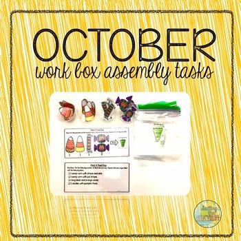 October Work Box Assembly Tasks