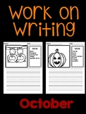 October Work on Writing (EDITABLE)