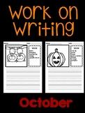 October Work on Writing (EDITABLE)