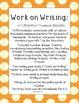 October Work on Writing Set: Kindergarten and First Grade