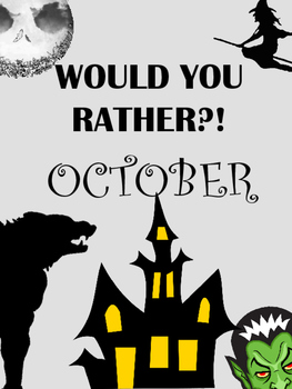 Would You Rather? Reluctant Writers Guide