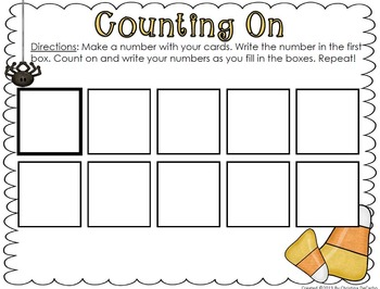 October Write On Wipe Off Math Centers and Games! {Common Core Correlated}