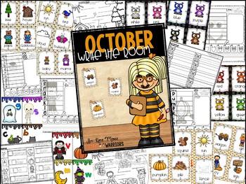 October Write the Room Activities for Kindergarten
