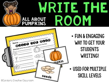 October Write the Room - All about Pumpkins Write the Room