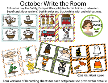 October Write the Room - Columbus, Fire Safety, Pumpkin, Nocturnal, Halloween