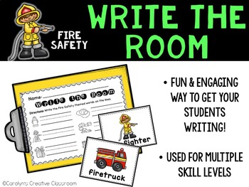 October Write the Room - Fire Safety Write the Room