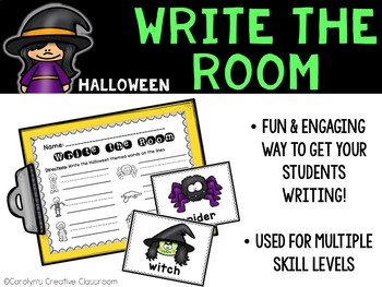October Write the Room - Halloween Write the Room