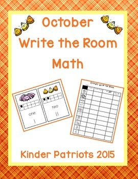 October Write the Room Math