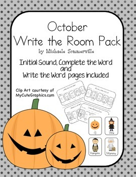 October Write the Room Pack