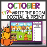 October Write the Room Print, Digital Seesaw and Google