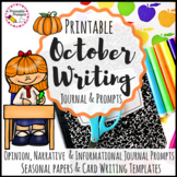 October Journal Prompts Writing Activities