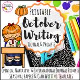 October Journal Prompts Writing Activities