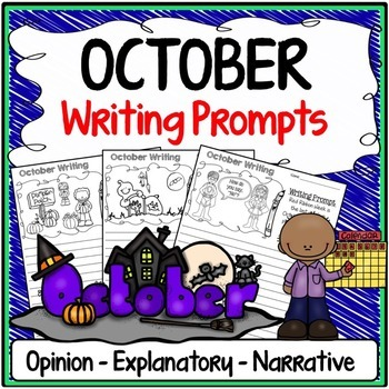 October Writing Prompts {Narrative Writing, Informative & Opinion Writing}