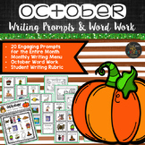 October Writing Prompts and Word Work