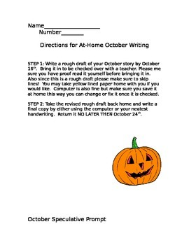 October Writing Activity