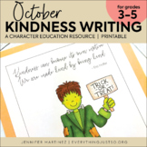 October Writing Activity | Thankful for Kindness Writing |