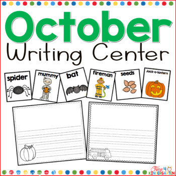 October Writing Center for Kindergarten and First Grade