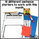 October Writing Activity: Interactive Sentence Starters