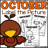 October Writing Activity: Labeling Pictures Using a Word Bank