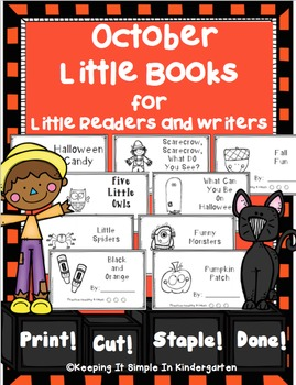 Kindergarten Writing Center - October Books for Little Readers and Writers