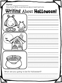 October Writing Center NO PREP Printables