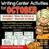 October Writing Center Activities and Printables NO PREP!