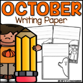 October Writing Activity: Thematic and Plain  Writing Paper