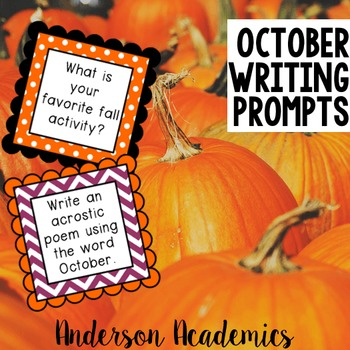 October Writing Center/Writing Prompts