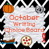 October Writing Choice Board