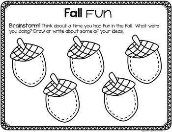 Fall and October Writing - Fall, Pumpkins, Halloween