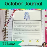 October Writing Journal   Writing Prompts