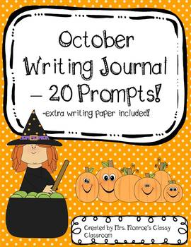 October Writing Journal - 20 Prompts!