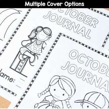 October Writing Journal Prompts for Preschool and Kindergarten