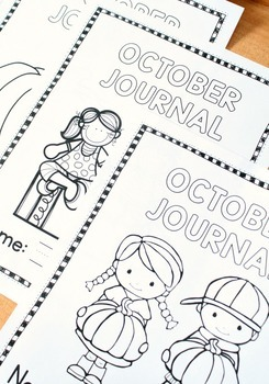 October Writing Journal Prompts for Preschool and Kindergarten