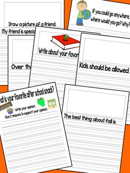 October Writing Journal for 1st and 2nd grade CCSS