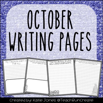 October Writing Pages