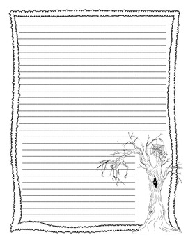 October Writing Paper with Lines