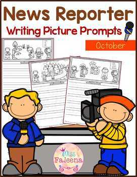 October Writing Picture Prompts - News Reporter