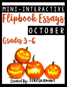 October Writing Projects CCSS aligned for 3rd, 4th, 5th, and 6th Grades