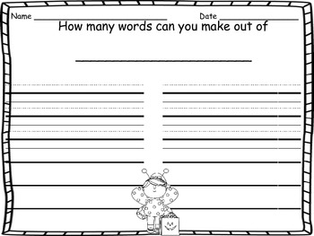 October Writing Prompt Cards