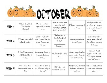 October Writing Prompts