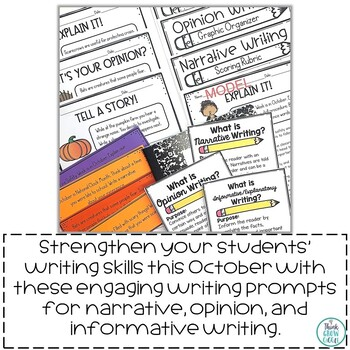 October Writing Prompts Activities