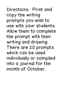 Writing Prompts-October