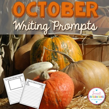 October Writing Prompts - Graphic Organizers & Writing Templates